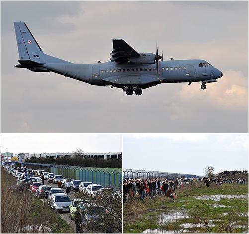 Przylot samolotu z ciałem Prezydenta
