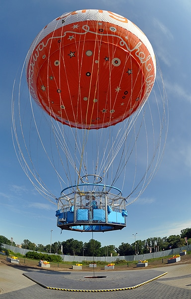 Balon wypełnia 5900 metrów sześciennych helu