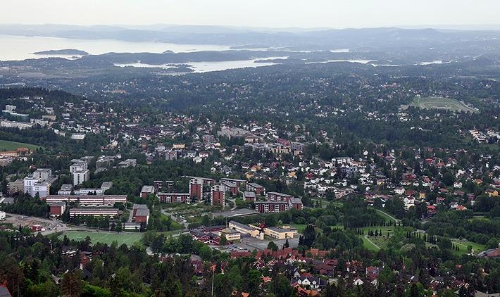 Oslo - widok z Holmenkollen