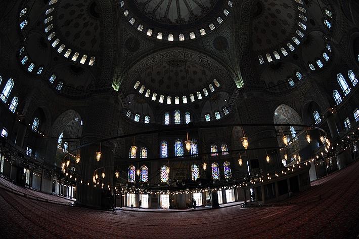 Wnętrze Błękitnego Meczetu