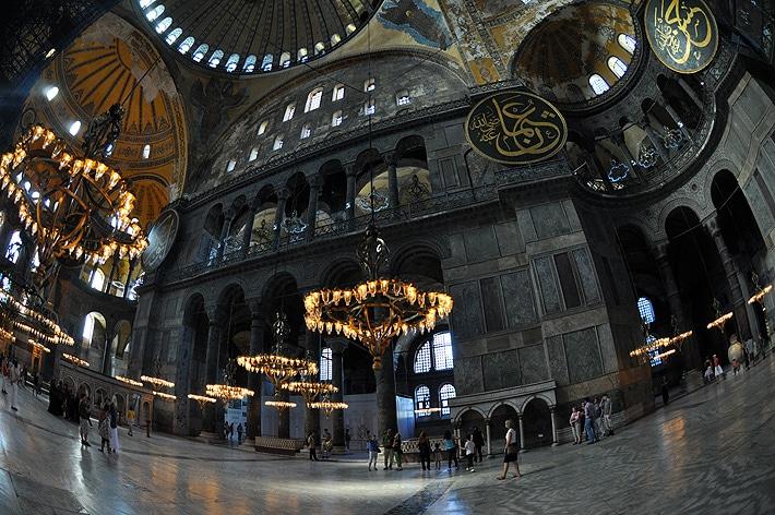 Wnętrze muzeum Hagia Sophia