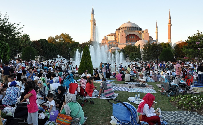 Przed Hagia Sophia