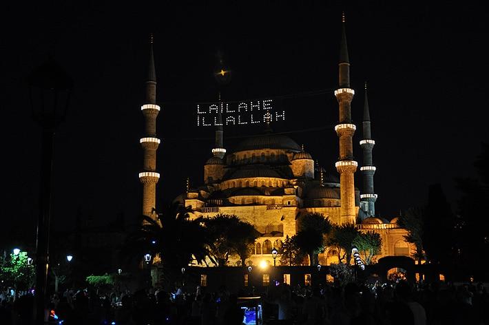 Błękitny Meczet w ramadanie