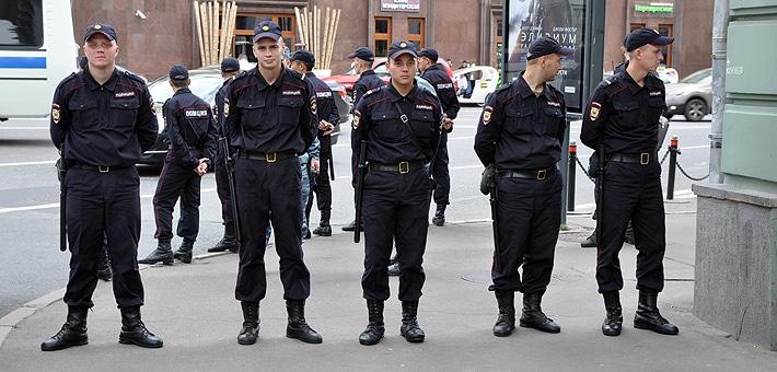 Policja w Moskwie