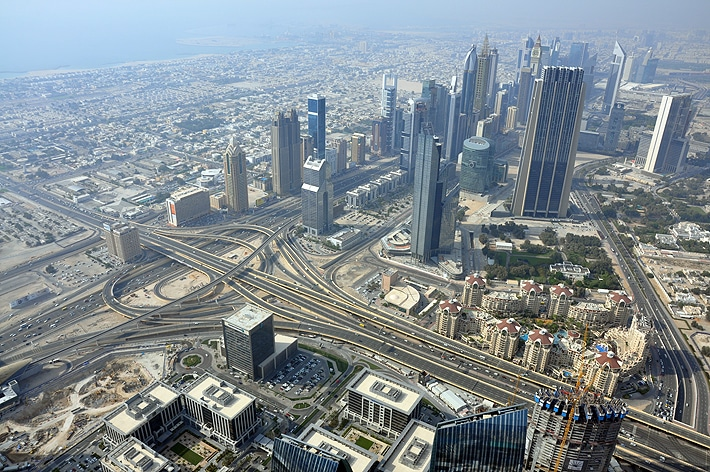 Dubaj - widok z Burj Khalifa