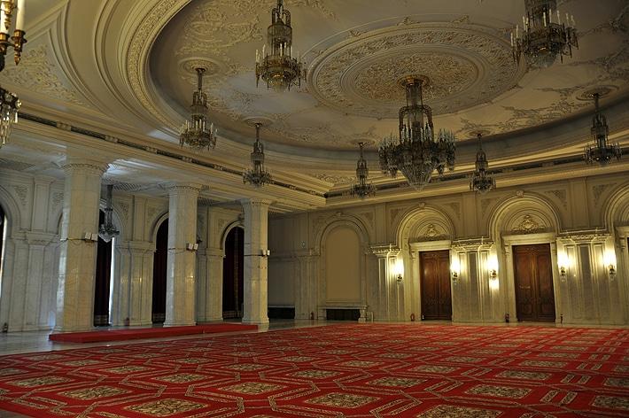 Wnętrza Pałacu Parlamentu - Bukareszt
