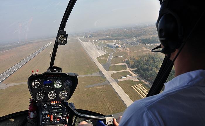 Lotnisko Modlin z powietrza