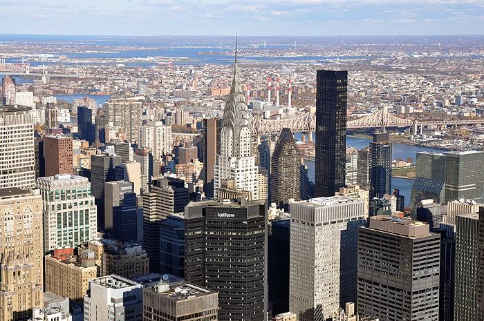 Chrysler Building z Empire State Building
