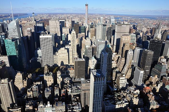 Widok z Empire State Building za północ