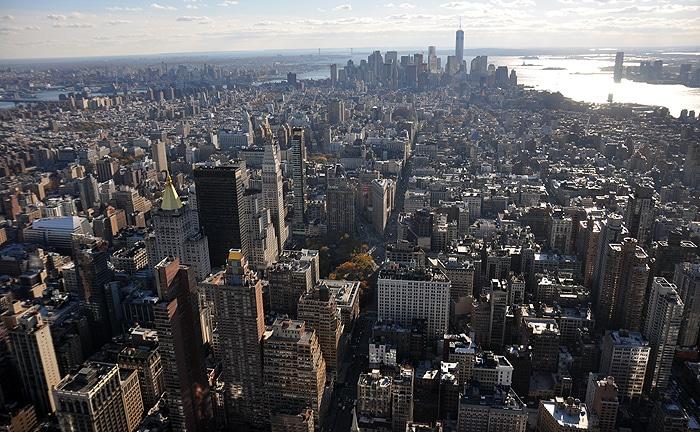 Dolny Manhattan widziany z Empire State Building