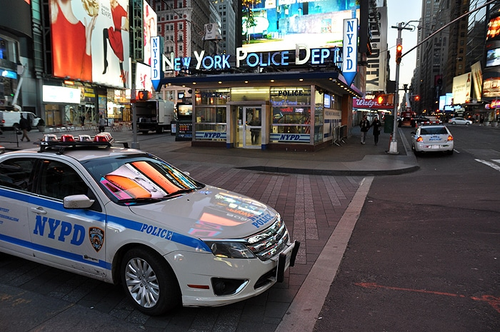 Posterunek policji na Time Square