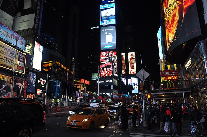 Time Square nocą