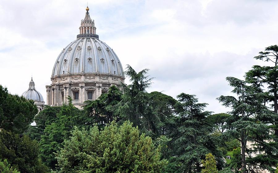 Kopuła bazyliki widok z Watykanu