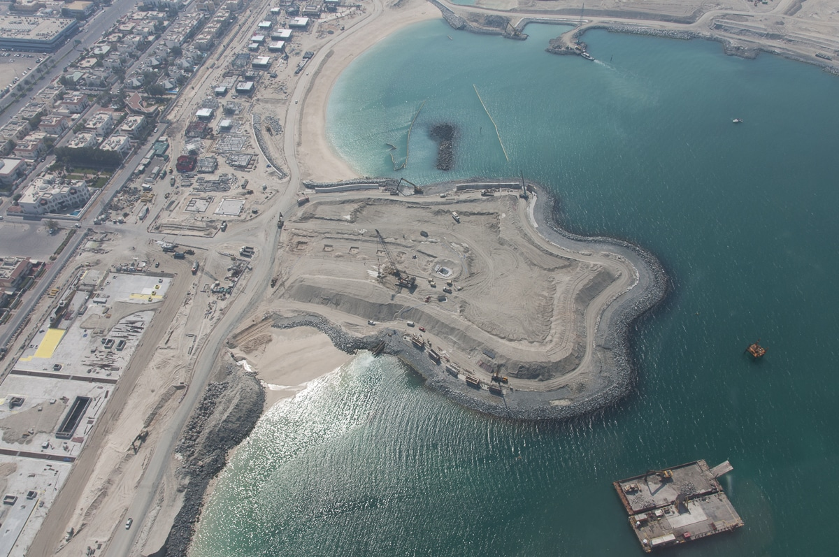 Dubai islands from above