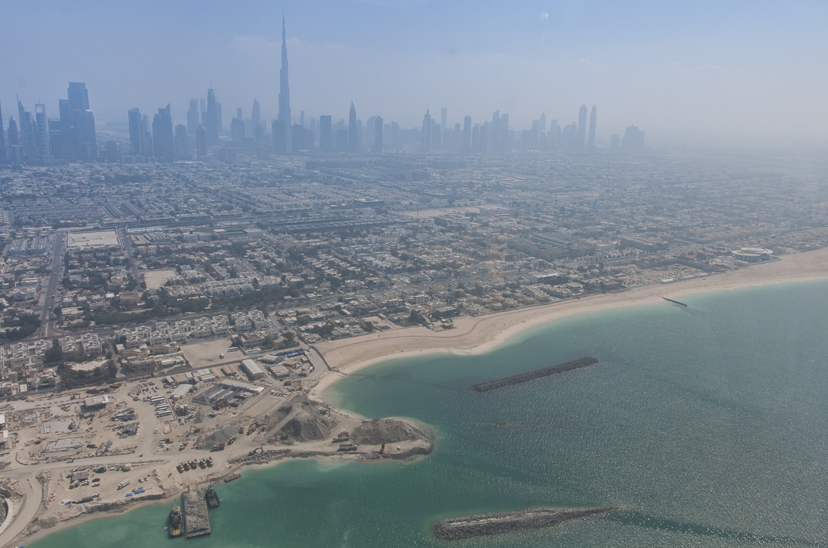 Dubai from a helicopter