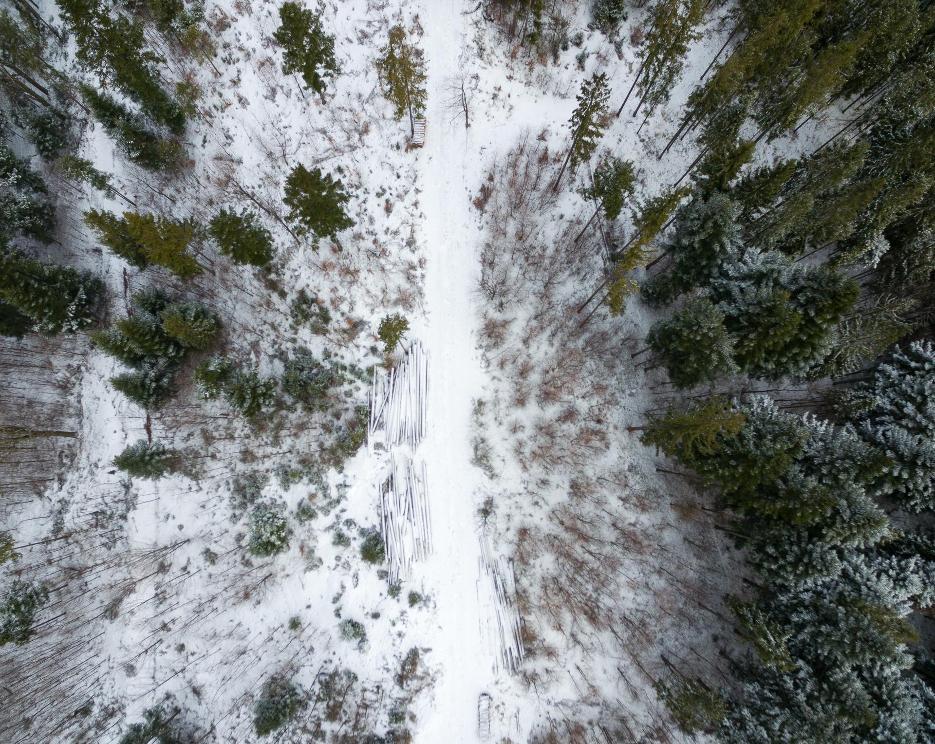 Okolice stacji narciarskiej Soszów