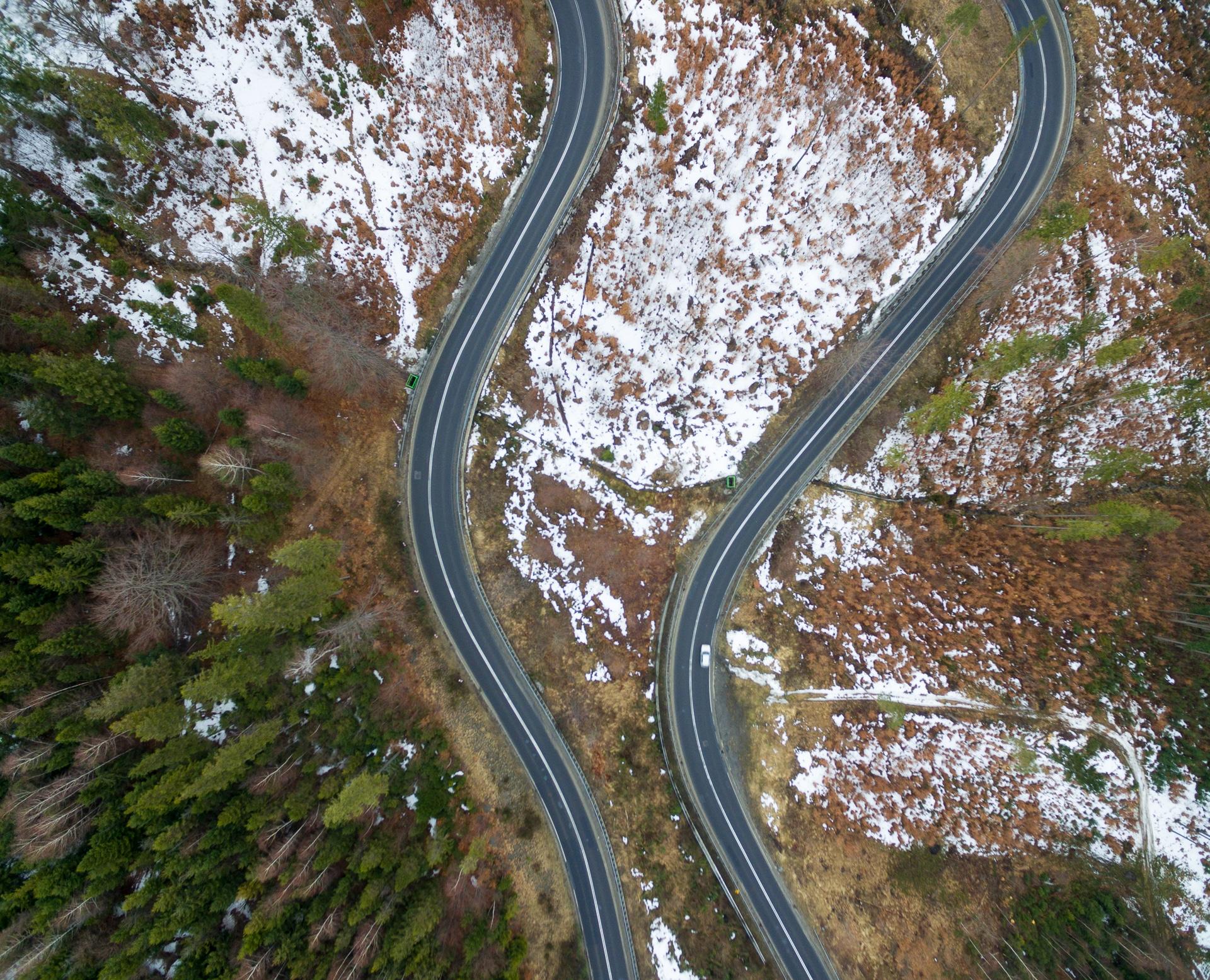 Droga na przełęcz Kubalonka