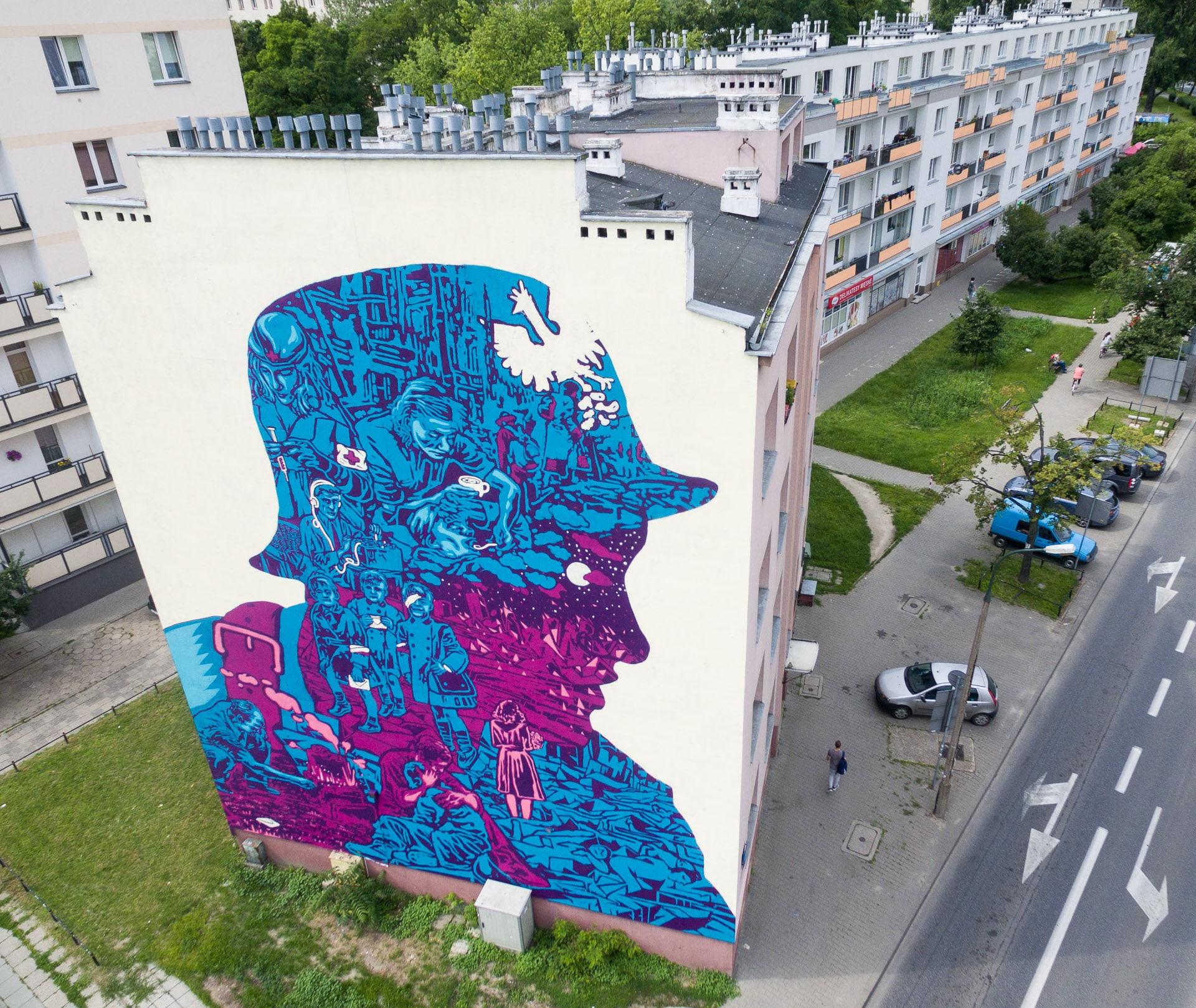 Mural na Płockiej