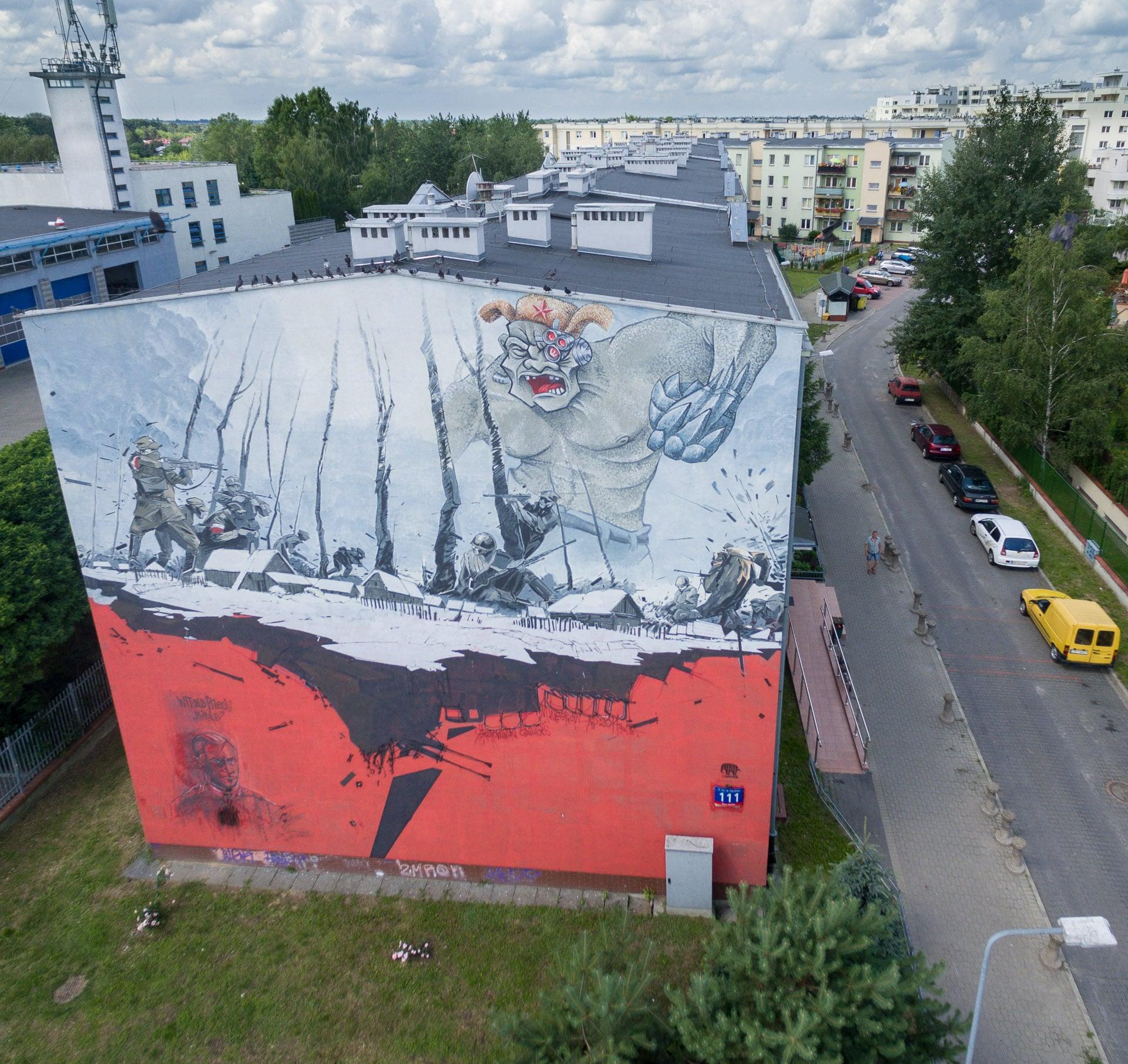 Mural - rotmistrz Witold Pilecki