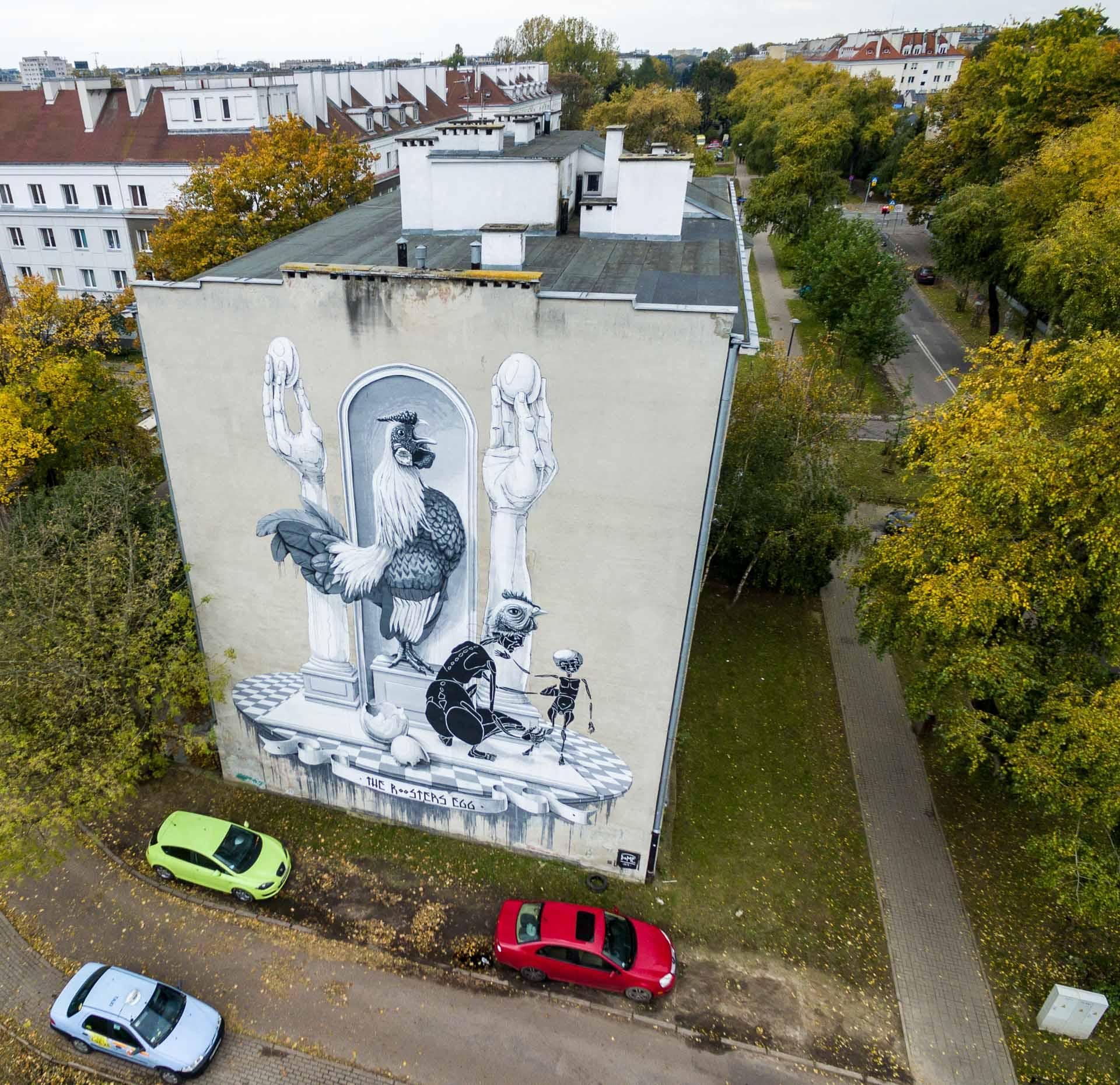 Mural przy Racałwickiej