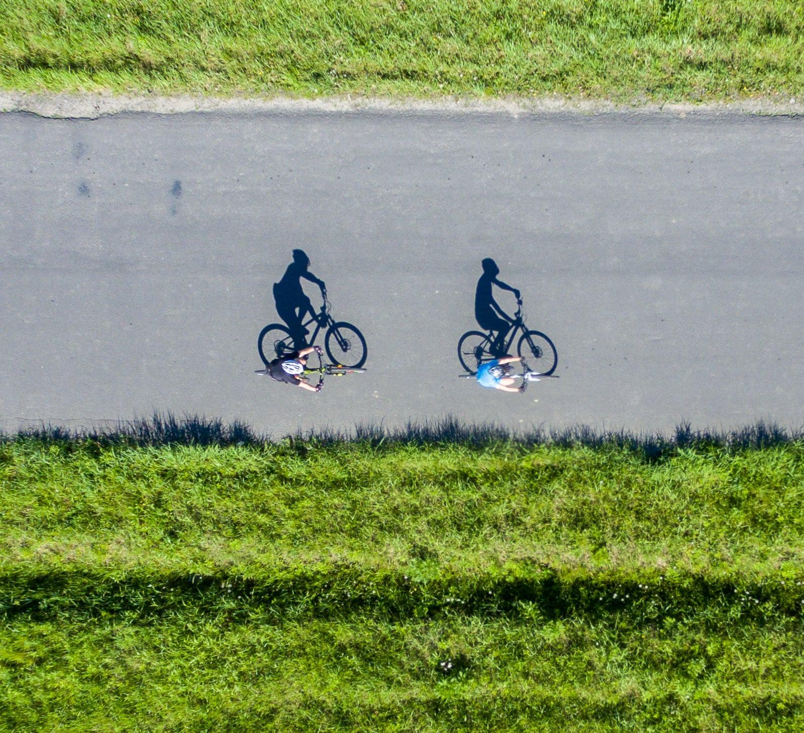 Rowery z drona