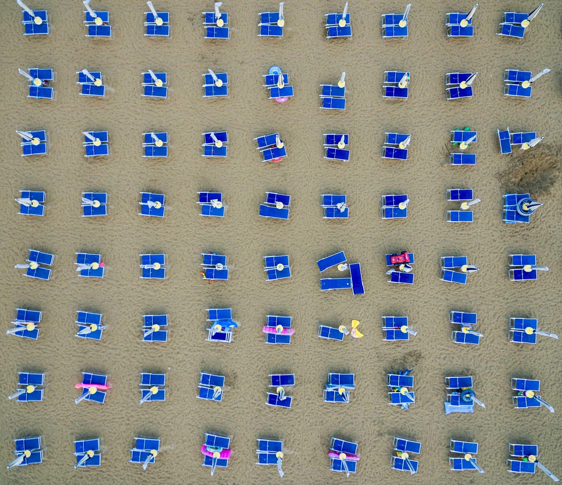 Leżaki w Bibione