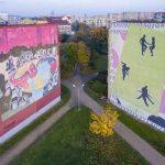 Gdańsk Zaspa – dzielnica murali z drona