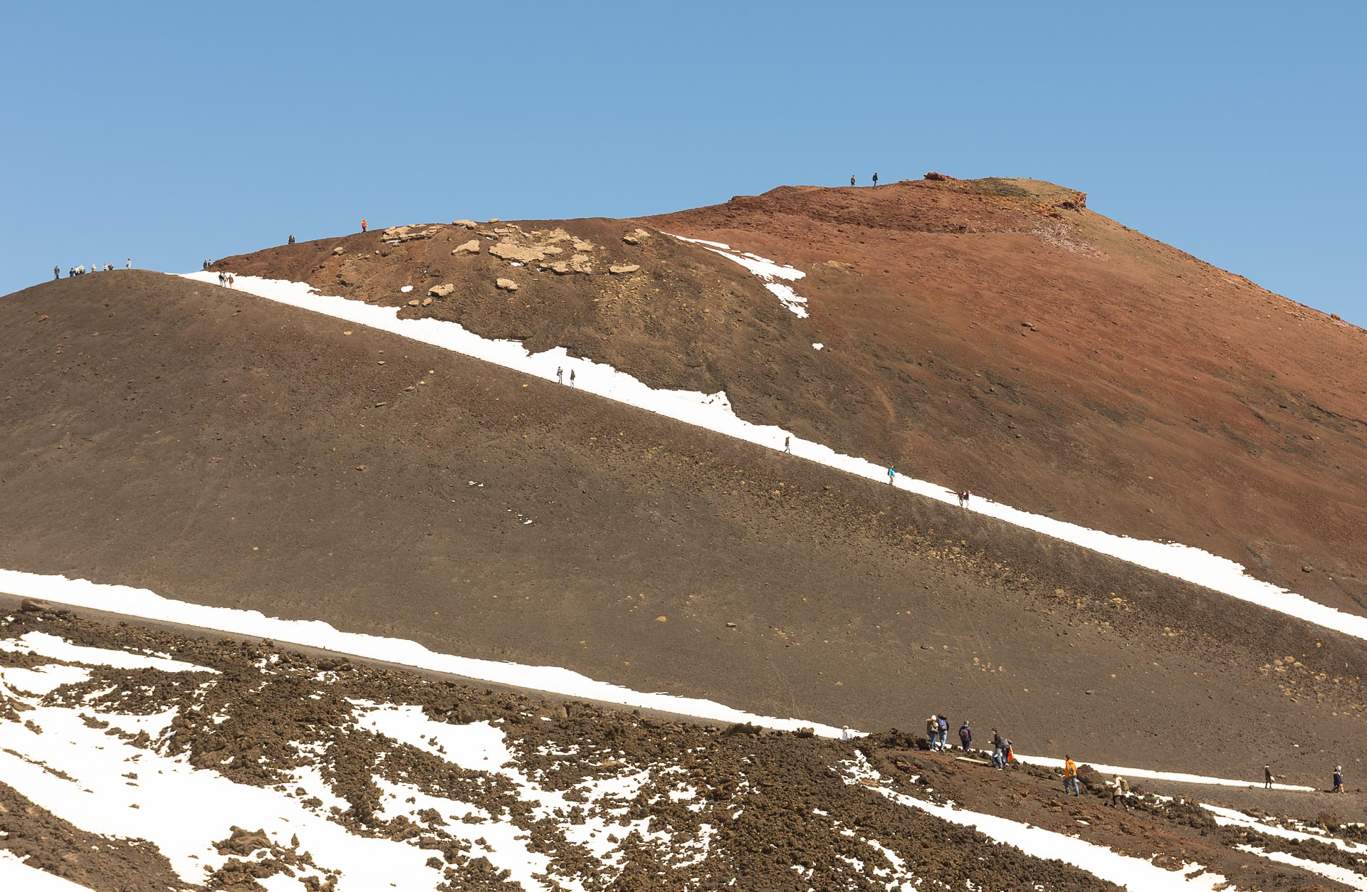 Boczny stożek wulkanu Etna