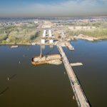 Budowa Mostu Południowego w Warszawie z drona