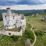 Zamek w Mirowie z drona