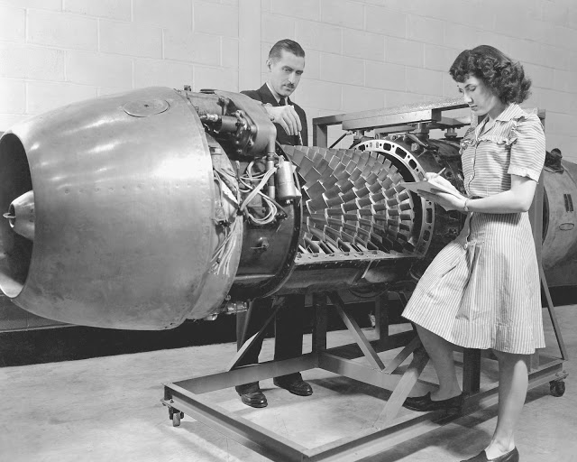 Silnik odrzutowy Jumo 004 (fot. NASA)