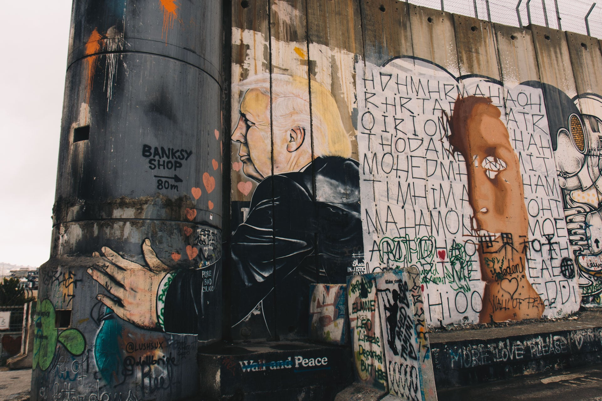 Streetart w Betlejem