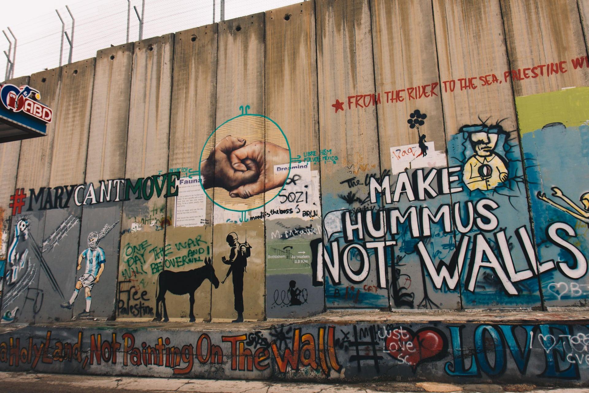 Graffiti w Betlejem