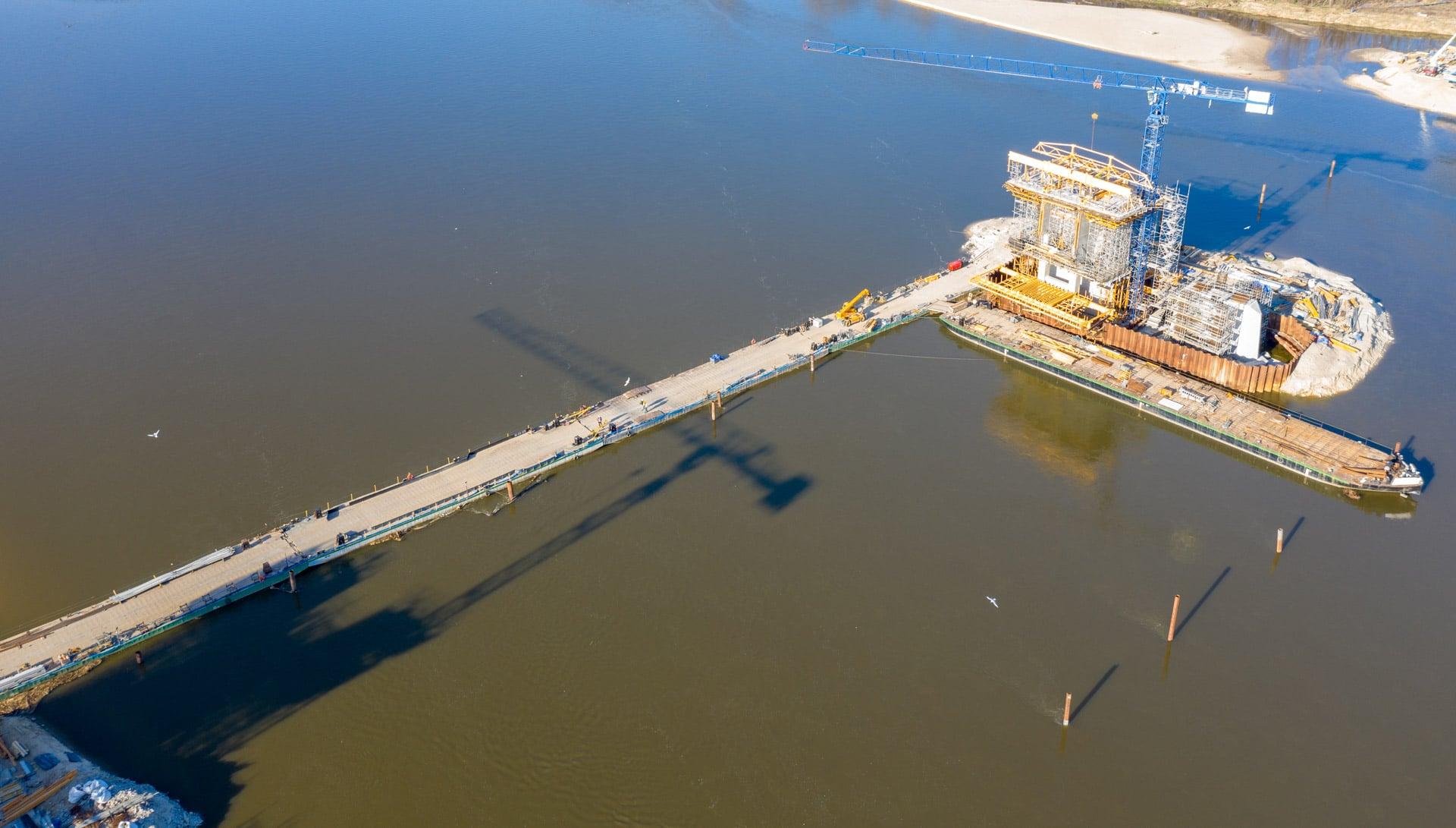 Most Południowy w budowie