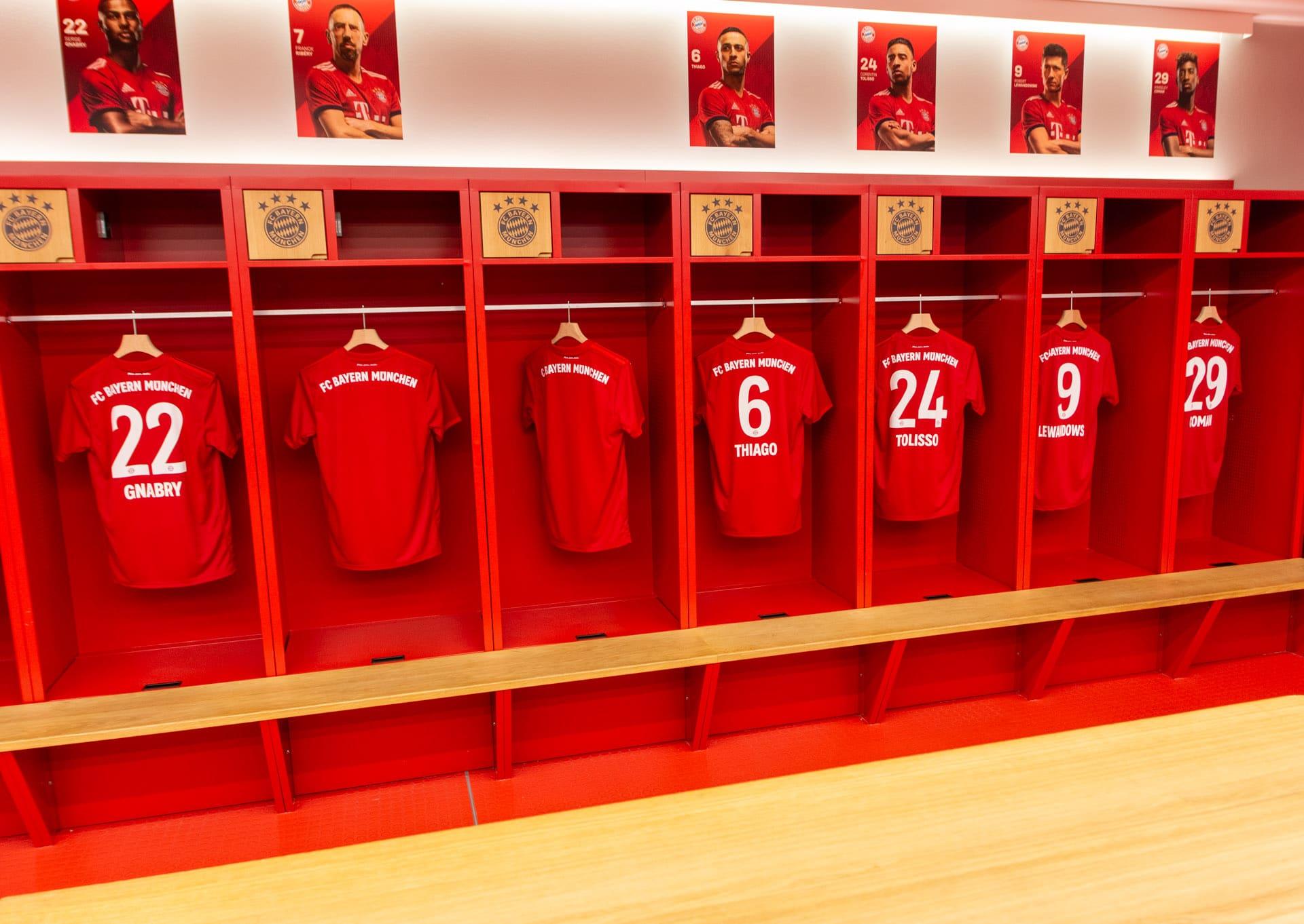 Bayern Monachium szatnia