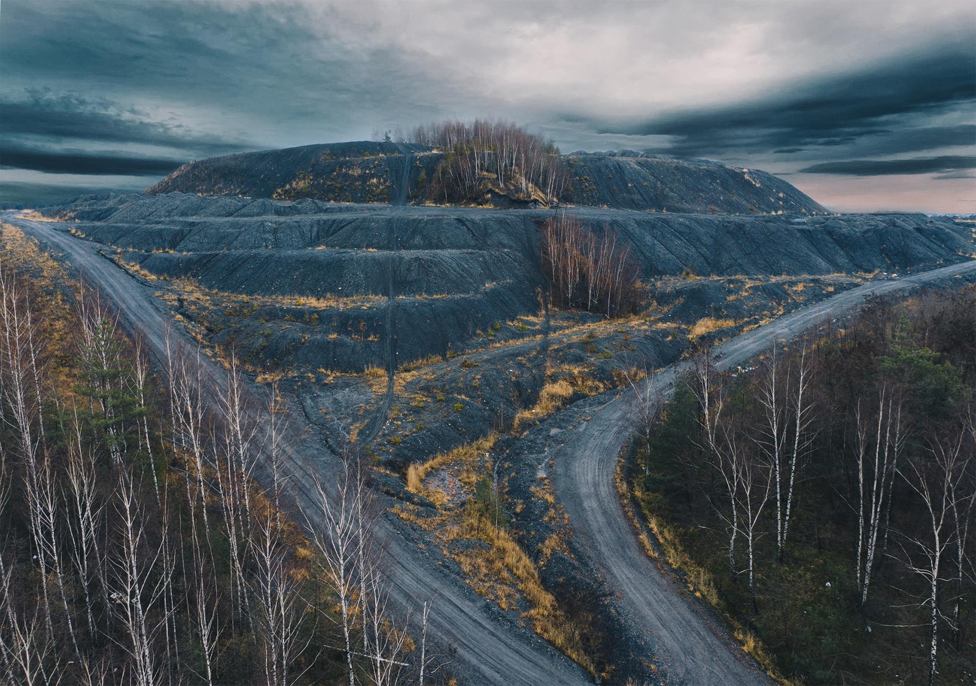 Hałda przy kopalni