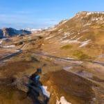 Latanie dronem na Islandii