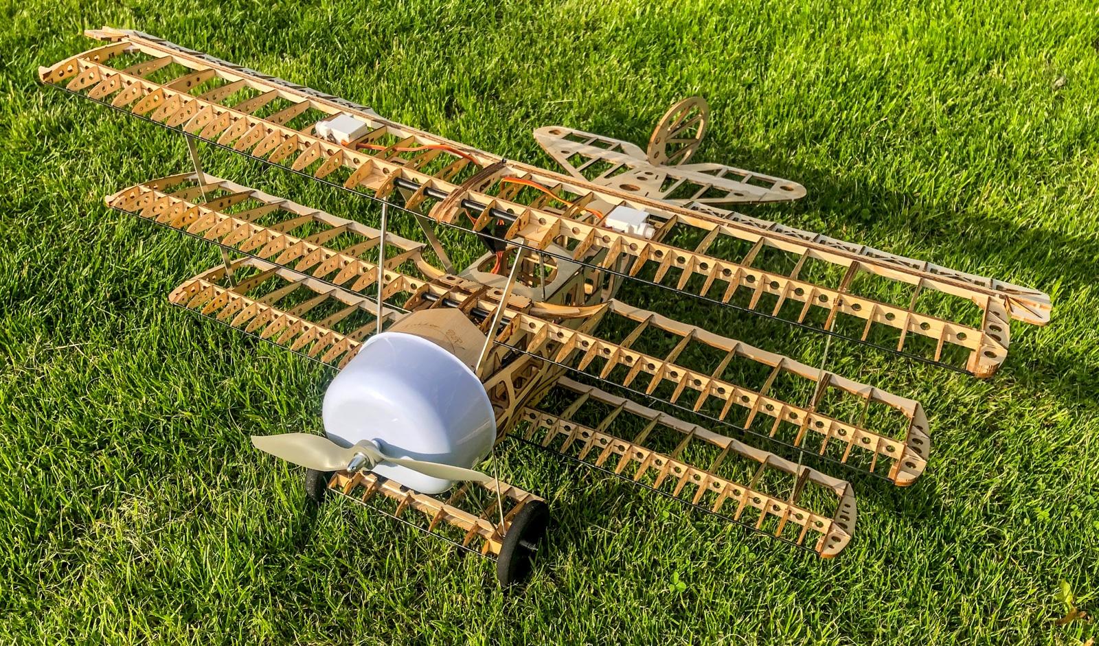 Fokker Dr.I balsa model
