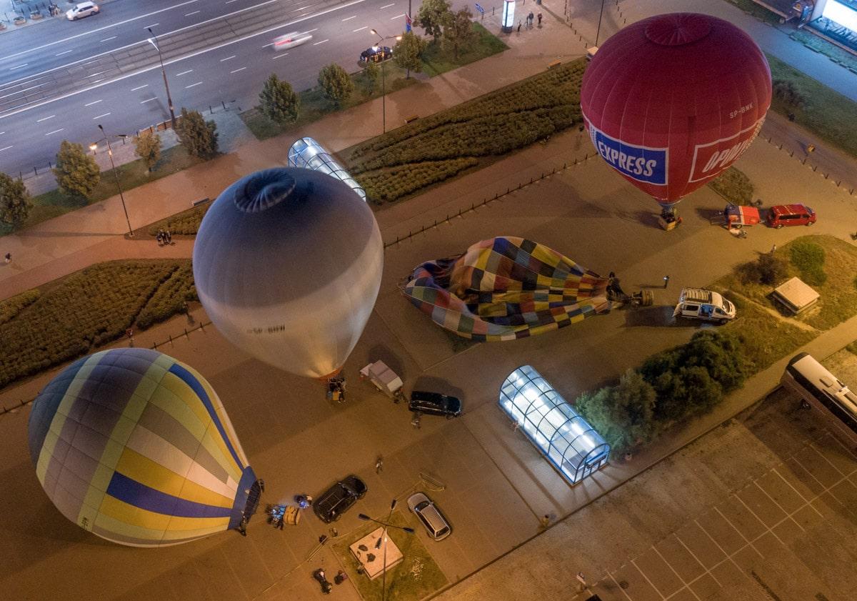 Balony pod PKiN