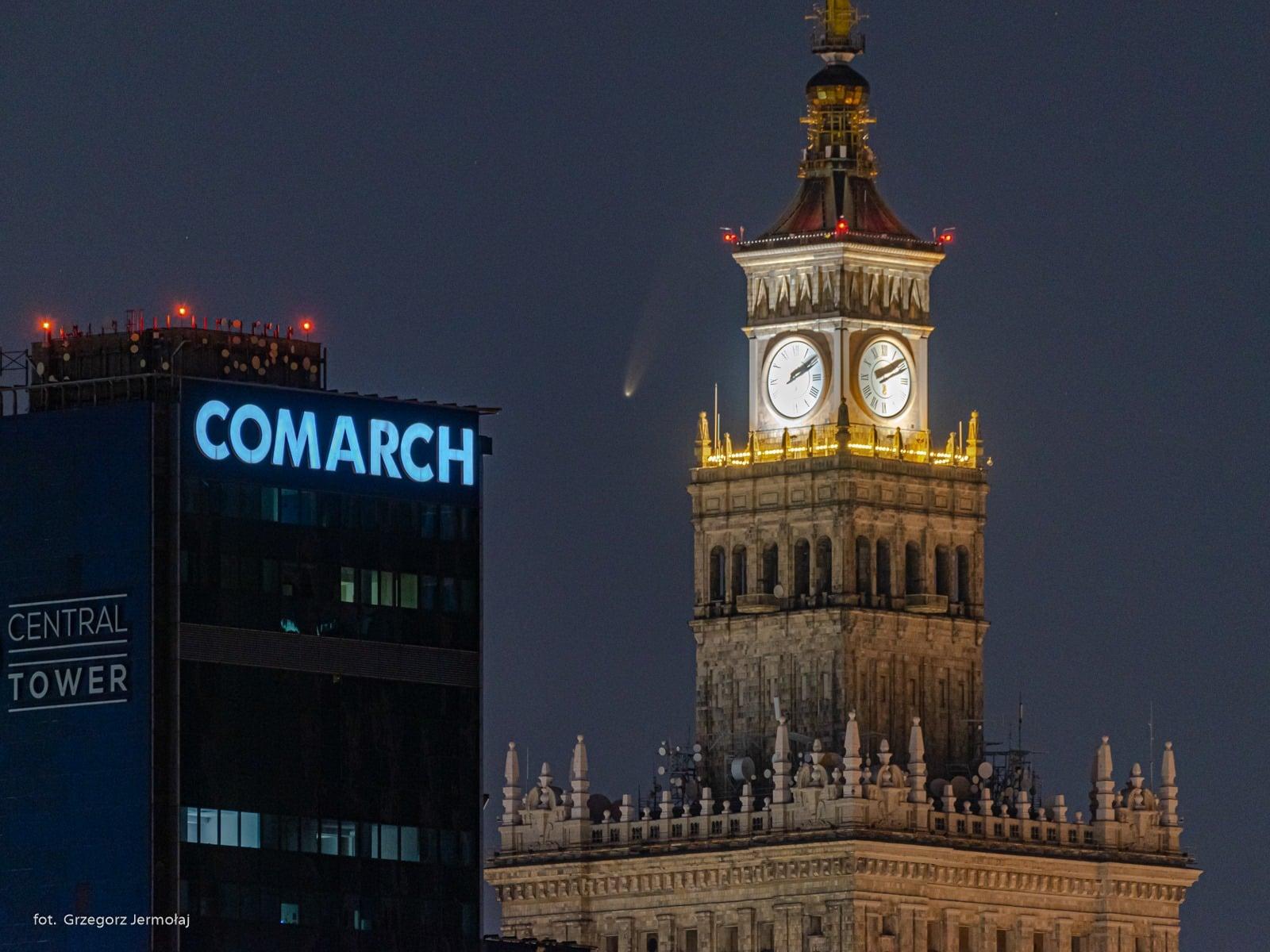 Kometa Neowise nad Polską fot. Grzegorz Jermołaj