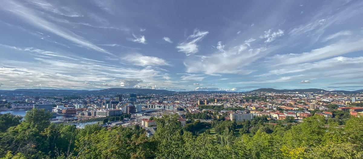 Oslo ze wzgórza Ekeberg