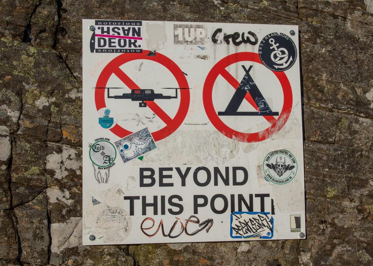 Preikestolen - zakaz dla dronów