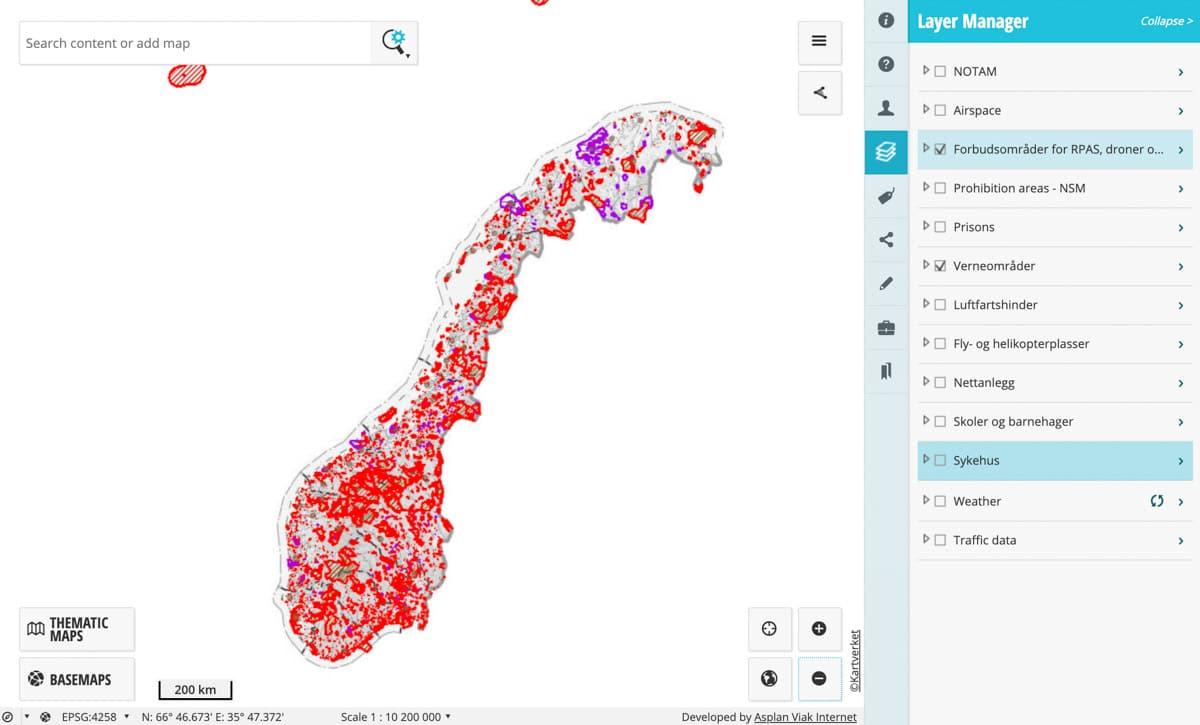 Strefy w Norwegii