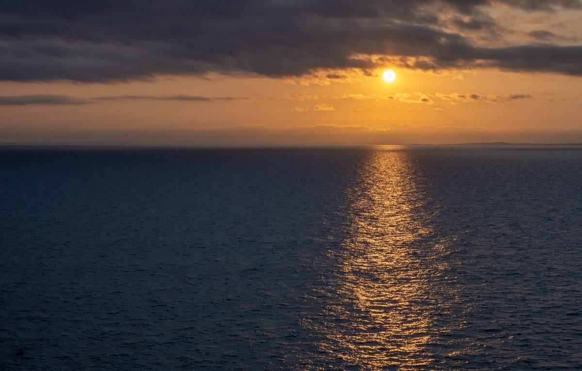 Wschód słóńca na Bałtyku