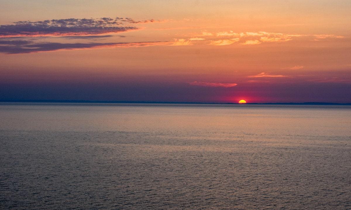 Zachód słońca na Bałtyku