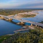Budowa Mostu Południowego z drona – wrzesień 2020