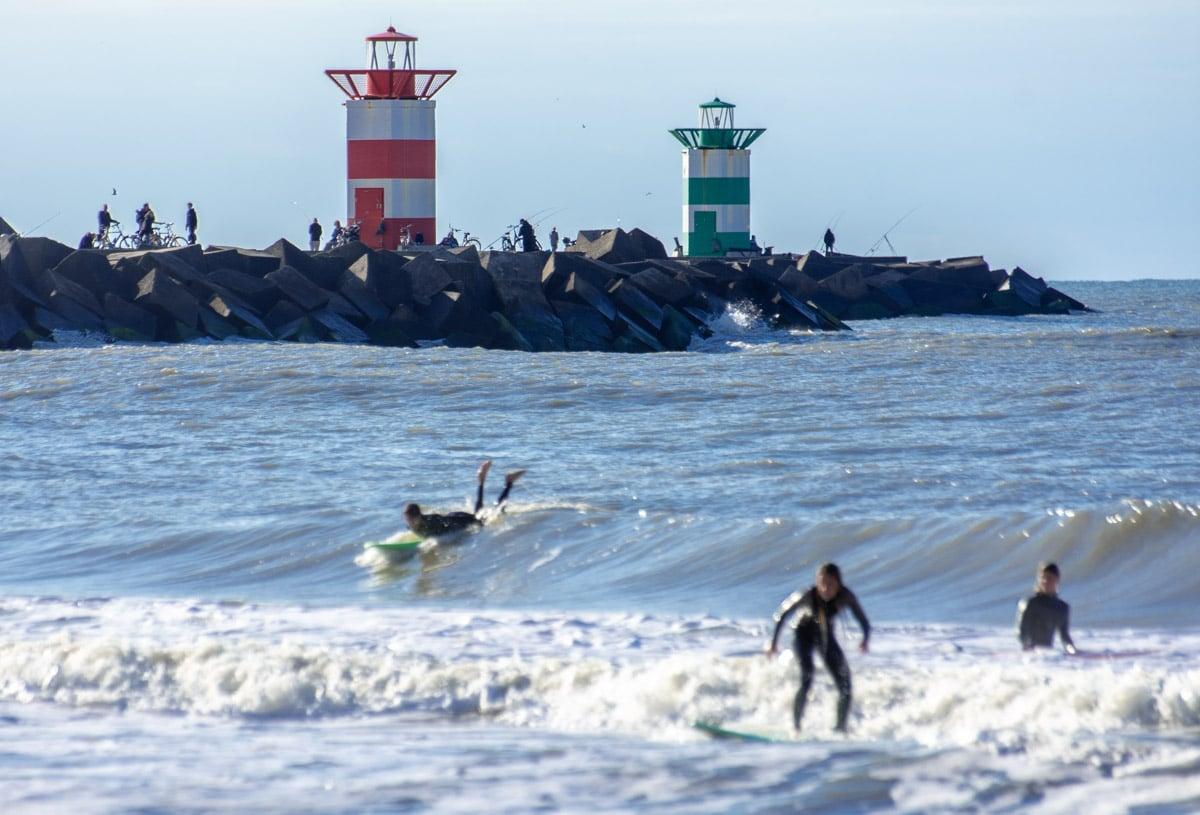 Surfing w Scheveningen