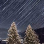 Nocne niebo nad Szwajcarią