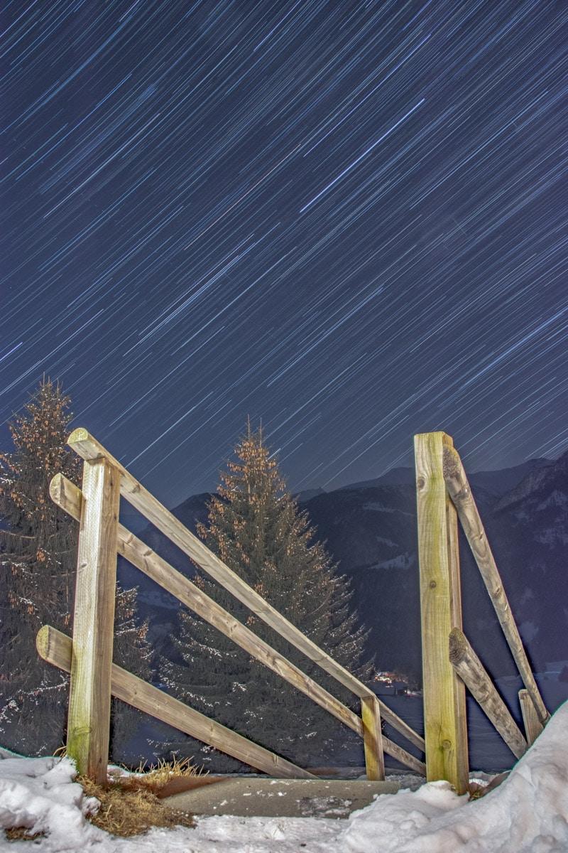 Ruch gwiazd na niebie