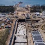 Przekop Mierzei Wiślanej – budowa, maj 2021